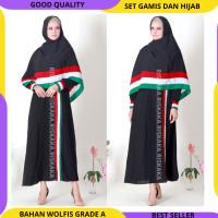 (HANYA GAMIS SAJA) Baju Gamis Muslim Wanita Syari Palestina Riskaka