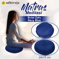 Matras/Alas/Bantal Meditasi Duduk Bulat Zafu Navy Blue