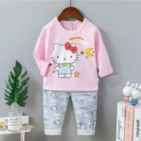 Piyama import/ Baju tidur anak perempuan Hello kitty umur 1 - 10 tahun