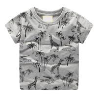 [zensasi] Baju Kaos T-Shirt Anak Laki-Laki Gambar Binatang & Pohon