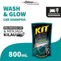 Shampoo / Sabun cuci mobil car Kit Wash & Glow POUCH REFILL 800ml