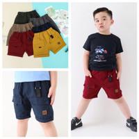 Celana Pendek Cargo Anak 4 5 6 7 8 Tahun Polos Shortpants Warna Warni