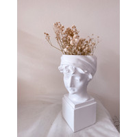 Artemis Sclupture Resin Vase/ Vas Bunga Resin Kepala Dewa Dewi