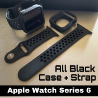 Apple Watch Strap Series 6 & SE 40 44mm NIKE BUMPER +STRAP ALL BLACK