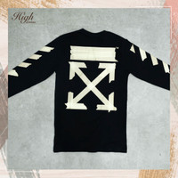 Off White SS20 Diag Tape Arrow Long Sleeve Tee Black 100% Authentic - XS
