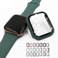 Bumper Hard Case Tempered Glass Apple Watch Iwatch Series 40mm 44mm