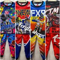 Stelan anak trail motorcross/stelan baju sepeda gunung anak umur 9-11