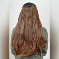 Hairclip sambungan rambut fiber HC02S30 Light Brown