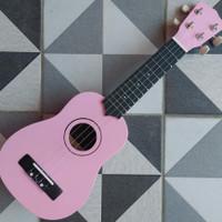 Gitar Kecil Ukulele Kentrung Soprano Senar 4 Soft Pink