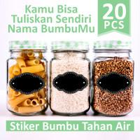 stiker label nama bumbu dapur pantry jar pet botol toples desain 4