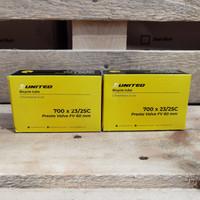 Ban Dalam Sepeda Balap Fixie 700c x 23/25 Pentil Presta 60mm United