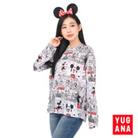 Kaos Wanita Lengan Panjang Kartun Mickey T-Shirt Size L XXL - FEYRIN