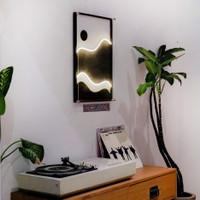 Vigne.onette - Shape in Black - Lukisan Neon Flex wall decor wall art