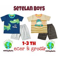 Setelan Baju Anak Laki Laki Kids Junction 1 - 3 Tahun kaos katun