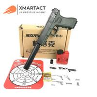 Mainan WGG Lehui Glock LH P18C Full Black Gel Blaster Spring WGB