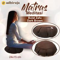Matras/Alas/Bantal Meditasi Duduk Bulat Zafu Dark Brown