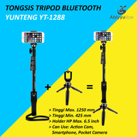 Tongsis Yunteng Bluetooth YT-1288 + Mini Tripod Yunteng YT-228 Ori