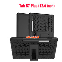 Samsung Galaxy Tab S7 Plus | 12.4 - Rugged Armor Back Case Cover Stand