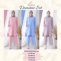 Baju Setelan Wanita Dewasa Setelan Wanita Muslim Dominic Set
