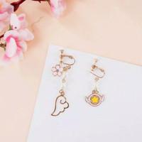 Anting Jepit Cardcaptor Sakura Japan anime Clip earring sakura flower