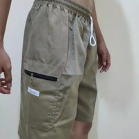 Celana Pendek Pria Bahan Katun Drill M - Jumbo (BISA COD)