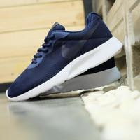 Sepatu Nike Tanjun Midnight Navy Biru Dongker Original