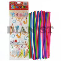 Balon Cacing Tanpa Pompa / Balon Panjang / Balon Twist - 50 Balon