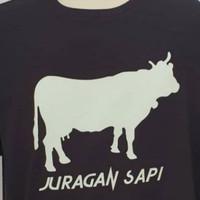 kaos t shirt kaos pria JURAGAN SAPI bahan bagus warna stok tersedia