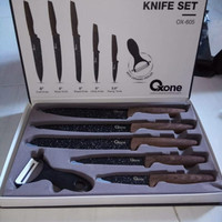 oxone black marble knife set ox 605