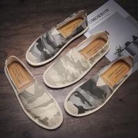 Sepatu Pria Sepatu Kasual Slip On murah ala korea improt china - Kuning, 39