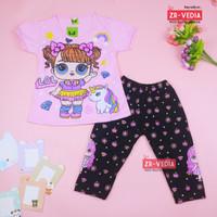 Setelan LOL uk 2-6 Tahun / Baju Anak Karakter Legging Perempuan Kaos