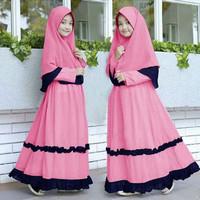 KITTY SYARI KIDS Baju Muslim Gamis Anak Perempuan Usia 10 - 12 Tahun