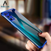 Case Realme 7 Pro 2020 Luxury Tpu Plating Transparant Premium Softcase - Biru