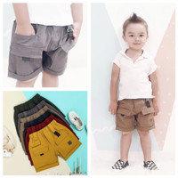 Celana Pendek Cargo Anak 1 2 3 Tahun Polos Shortpants Warna Warni
