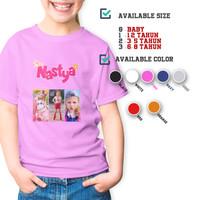 C/52 Kaos Anak Like Nastya Natsya Vlog Youtube Kids T-shirt