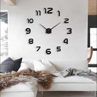 Jam dinding raksasa / besar unik DIY diameter 80-130cm