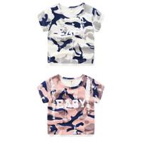[zensasi] Baju Kaos Anak Laki-Laki Lengan Pendek Warna Pink & Putih