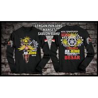 DaveFashion - Kaos Distro Lengan Panjang RX KING 135CC Black FN290