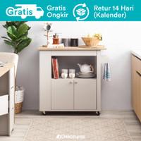 Dekoruma Yver Lemari Kabinet Troli dengan Rak Susun | Kitchen Cart