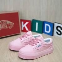 sepatu Vans anak perempuan Full Pink Premium Quality