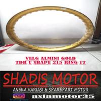 Velg Almini TDR U Shape Warna Gold Ukuran 215 Ring 17