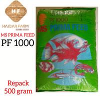 PF 1000-Pelet Pakan Makanan Benih Ikan Lele Gurame Nila-Repack 500 gr
