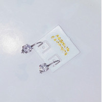 Anting Earing Daisy Desi Pink Stainless Monel Diamond Jewelry White