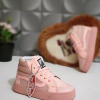 sepatu Vans anak perempuan High Full Pink Premium Quality