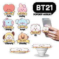 BT21 Acrylic Pop Socket Akrilik Popgrip Stand HP Custom