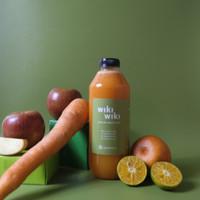1 Liter Juice - Wiki Bright - Jus Buah Apel, Jeruk & Wortel