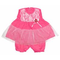 Baju Dress Pesta Anak Bayi Perempuan Tile Bunga Pita 2-3 Bulan 3 warna