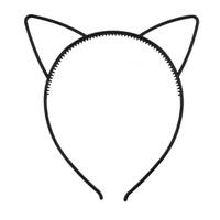 HBCA headband cat ear simple bando telinga kucing hitam polos kawat