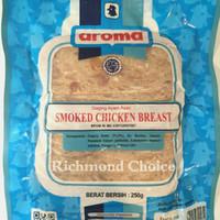 CHICKEN AROMA SMOKED CHICKEN BREAST / DAGING AYAM ASAP AROMA 250 GRAM