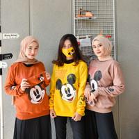 Mickey free mask - Sweater wanita gratis masker - sweater mickey mouse
